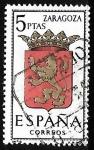 Stamps Spain -  Escudos de las capitales de  provincia españoles -  Zaragoza