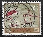Sellos de Europa - España -  Homenaje al pintor desconocido - Cueva de Morella