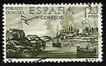 Stamps Spain -  Forjadores de America - Poblado de Nutka