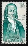 Sellos de Europa - España -  Forjadores de America  - Esteban Jose Martinez