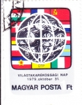 Stamps : Europe : Hungary :  Banderas de diversos países europeos