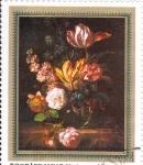 Stamps : Europe : Hungary :  PINTURA- FLORES