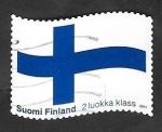 Sellos del Mundo : Europa : Finlandia :  2043 - Bandera nacional