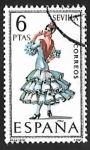 Stamps Spain -  Trajes típicos españoles - Sevilla