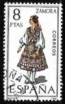 Stamps Spain -  Trajes típicos españoles - Zamora