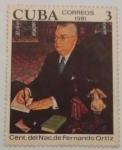 Stamps : America : Cuba :  CENT. DEL NAC DE FERNANDO ORTIZ