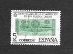 Stamps Spain -  Edf 2324 - Bicentenario de la Constitución de los Estados Unidos