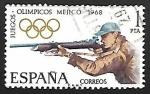 Sellos de Europa - España -  XIX Juegos Olímpicos en Mejico  (Tiro)
