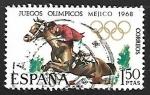 Sellos del Mundo : Europa : España : XIX Juegos Olímpicos en Mejico  (Hípica)