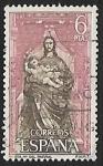 Stamps Spain -  Monasterio de Sta. Maria del Parral - La Virgen y el Niño