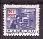 Stamps Hungary -  serie- Historia postal
