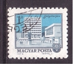 Stamps Hungary -  serie- Ciudades