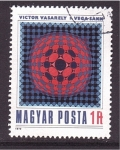 Stamps Hungary -  Pintor Victor Vasarely