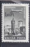 Stamps : Europe : Hungary :  AVIÓN SOBREVOLANDO FRANKFURT