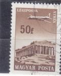 Stamps : Europe : Hungary :  AVIÓN SOBREVOLANDO ATENAS