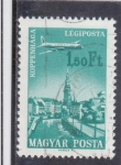 Stamps : Europe : Hungary :  AVION SOBREVOLANDO ROTTERDAM