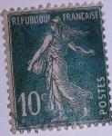 Stamps France -  type semeuse camée