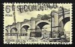 de Europa - España -  Forjadores de América - Puente de Cal y Canto sobre el rio Mapocho