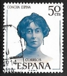 Stamps Spain -  Literatos Españoles -Concha Espina
