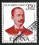 Stamps Spain -  Literatos Españoles - José Maria Gabriel y Galan