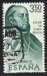Stamps Spain -  Forjadores de América. Mejico - Fray Juan de Zumárraga