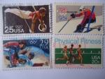 de America - Estados Unidos -   Juegos Olímpicos 88 y 80 USA - Serie Mundial de beisbol y Aptitud Fisical