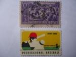 de America - Estados Unidos -  Centenario del béisbol 1839-1939 y Centenario del béisbol profesional 1869-1969