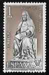Stamps Spain -  Año Santo Compostelano - Santa Brigida de Vadstena (Suecia)