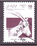 Stamps Spain -  serie- animales africanos