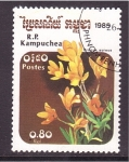 Stamps Asia - Cambodia -  serie- flores