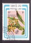 Stamps Asia - Laos -  serie- orquídeas