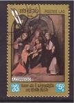 sellos de Asia - Laos -  serie- cuadros religiosos
