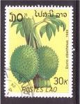 sellos de Asia - Laos -  serie- frutas