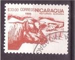 Sellos de America - Nicaragua -  serie- reforma agraria