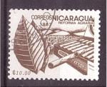 Stamps : America : Nicaragua :  serie- reforma agraria