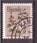 Sellos de Africa - Uganda -  serie- flores