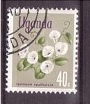 Stamps : Africa : Uganda :  serie- flores