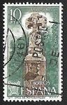 Sellos de Europa - España -  Año Santo Compostelano  - Cruz de Roncesvalles Navarra