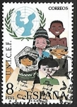 Sellos de Europa - España -  XXV Aniversario del UNICEF