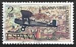 Sellos de Europa - España -  L Aniversario del Correo aereo