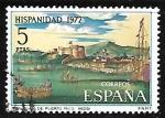 Sellos de Europa - España -  Hispanidad. Puerto Rico - Vista de San Juan de Puerto Rico