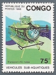Stamps Africa - Republic of the Congo -  Vehículos Sub-acuáticos Transport PC-1202