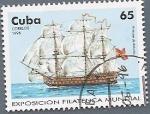 Stamps America - Cuba -  Exposición Filatélica Mundial - Navío Príncipe de Asturias