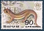 Stamps Asia - North Korea -  Salamandra de Gensan - UNEP - Programa Medio Ambiente de la ONU
