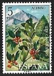 Stamps Spain -  Flora - Acebiño