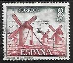 Sellos de Europa - España -  Serie Turística - Molinos de la Mancha (Ciudad Real)
