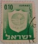 Sellos de Asia - Israel -  escudo de ciudades -Bet Shean