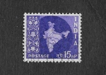 Stamps India -  283 - Mapa