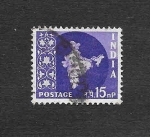 Stamps India -  Mapa