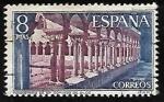 Sellos de Europa - España -  Monasterio de Santo Domingo de Silos - Claustro